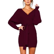 women's sweater dress wrap dress long sleeve sweater dress jersey dresses for women women sweaters