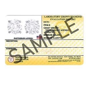 Certification report IGI IGL GIA Graded Diamonds authentic Color Clarity Carat Cut New World