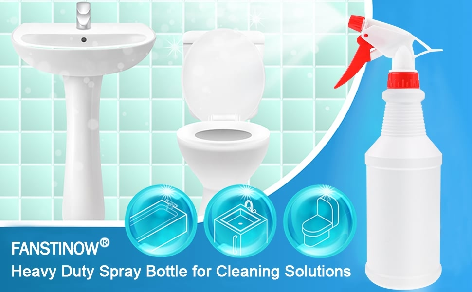 Spray bottle for cleaning solutions