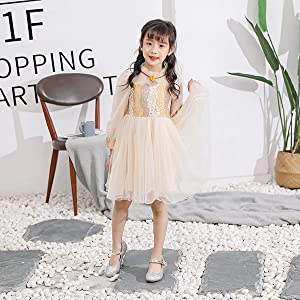 ALPHELIGANCE Girls Sparkle Mary Jane Low Heel Shoes Princess Flower Wedding Party Dress Shoes