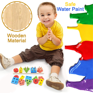 Safe To Use Non toxic Water paint Wooden Material Wood Wooden High Quality