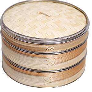 77bad1be 6913 46bf b6a5 f54003b6bdb1.  CR97,105,1364,1364 PT0 SX300 V1    - Livzing Bamboo Steamer Set With Lid- Brown