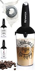 PowerLix Milk Frother ,Foamer Cup Included