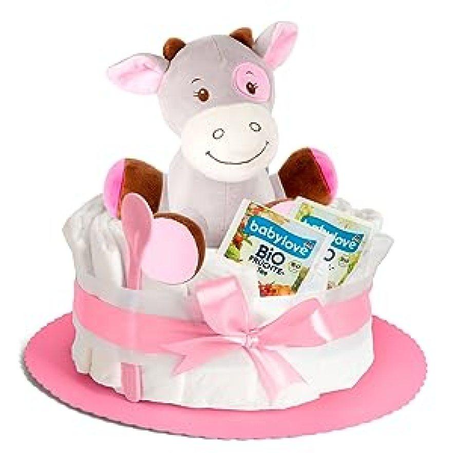 Windeltorte mädchen baby party geschenk