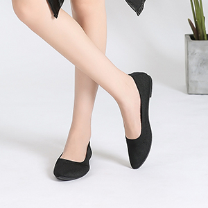 Flats shoes for women Casual Ballet knitted for women black low-top shoes Mesh Casual Walking Shoes