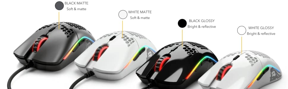 Model O Gaming Mouse Matte Glossy Worlds lightest mice