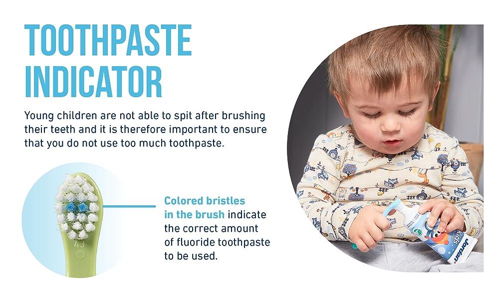Toothpaste indicator