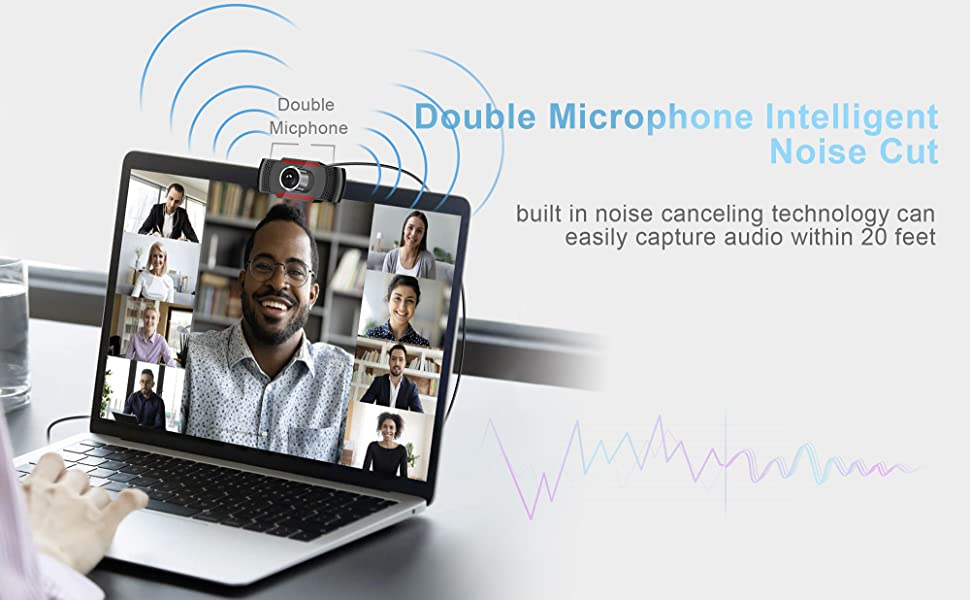 1080P WEBCAM WITH DOUBLE MICROPHONE