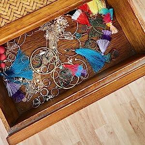 Rustic Wooden Jewelry Organizer