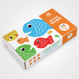 Magnetic Alphabet Letter Wooden Fishing Game for Toddler Boys Girls Age 3+