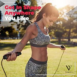 shed calories indoor outdoor fast skipping jumping rope