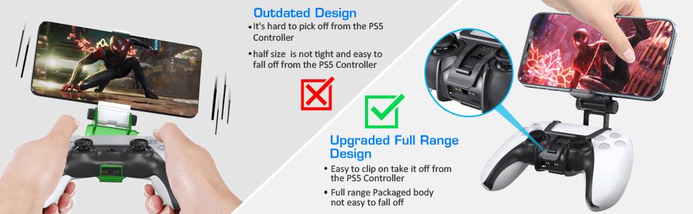 playstation 5 dualsense controller phone mount clip