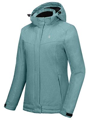 Women's Waterproof Jacket with Removable Hood