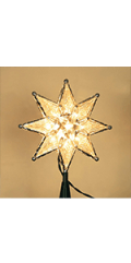 Lighted Christmas Tree Topper, Warm White