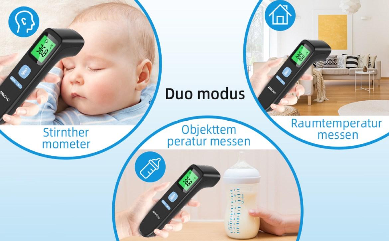 Fieberthermometer Infrarot Upgrade-Digitalthermometer, Infrarot Thermometer mit Stirn- und
