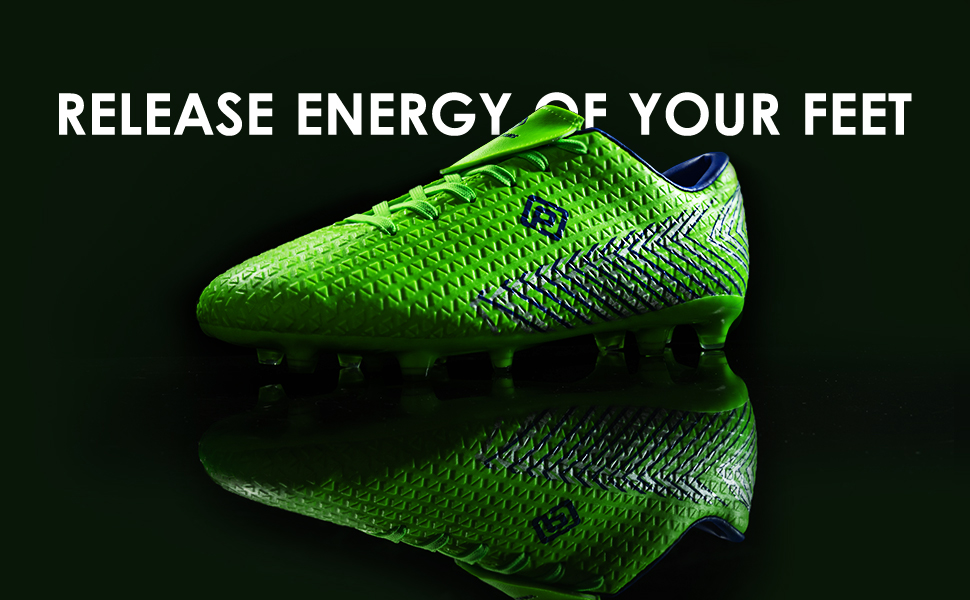 DREAM PAIRS Men's Firm Ground Soccer Cleats Shoes