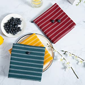 Dishes towels are great for drying glass hand dinnerware, restaurant cleaning, holiday, bar counter.