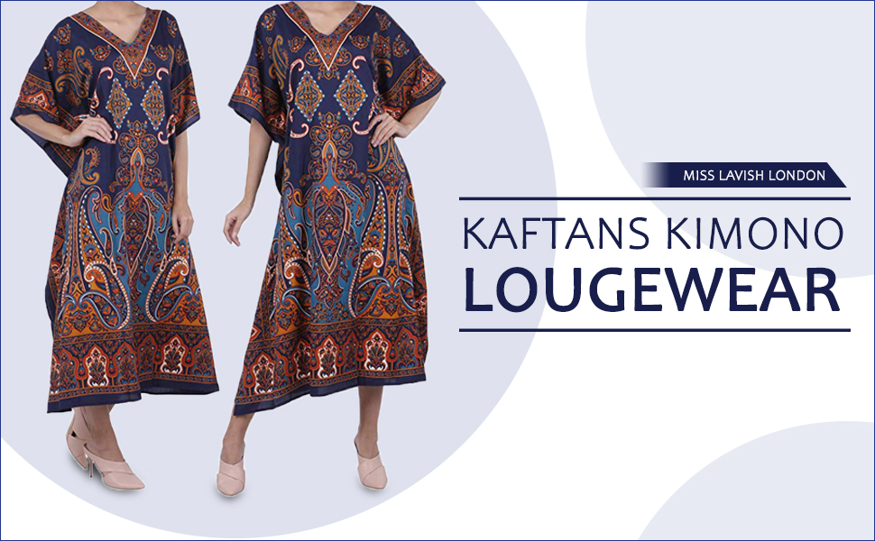 Miss Lavish London Ladies Kaftans Kimono Maxi