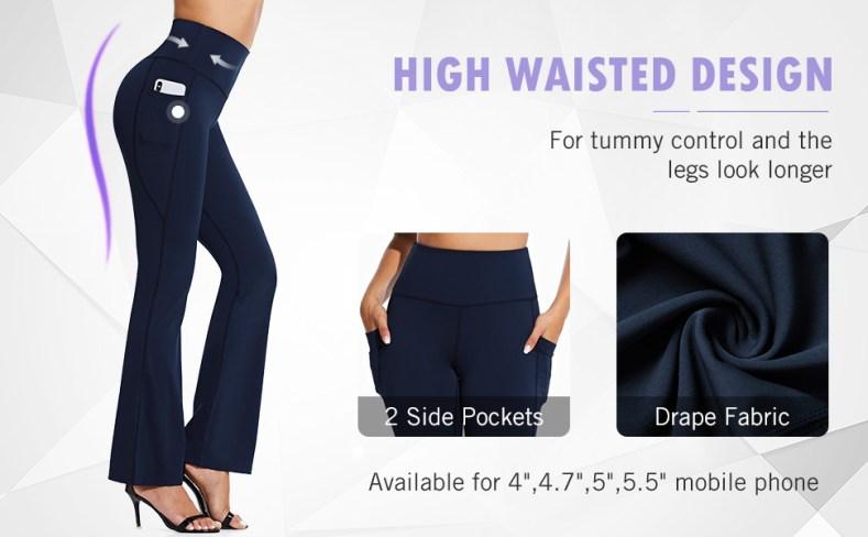 high waist dress pants with side pockets