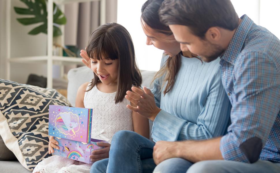 unicorn gifts for girls age 3,4,5,6,7,8,9,10,11,12,13, jewelry box, musical box, jewelry storage