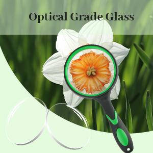Glaslinse in optischer Qualität.