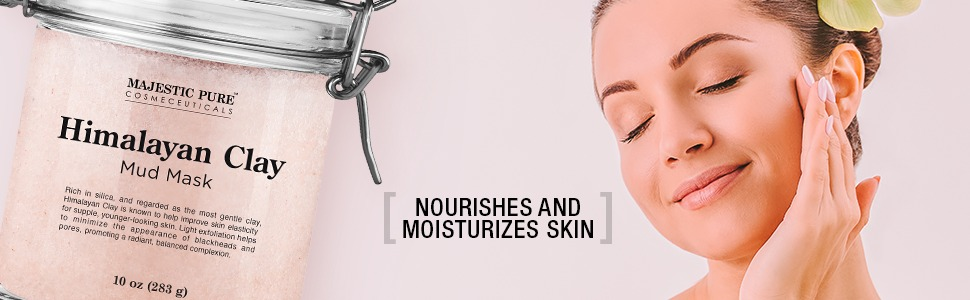 majestic pure himalayan pink salt clay face mask facial masque pores acne natural best top premium