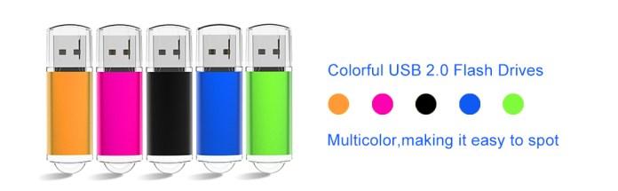 multicolor usb sticks flash drive
