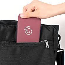 Back anti-theft pocket with zipper