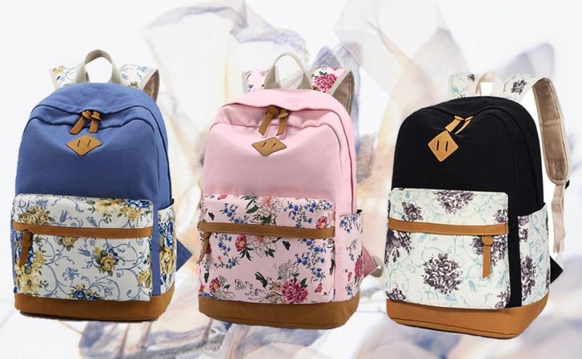 floral backpack cute bookbags for girls women backpack for travel lightweight back pack