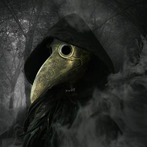 Plague Doctor Bird Mask Gold