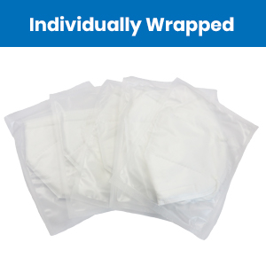 milcoast 5 ply protection disposable face mask individually single wrapped each