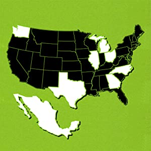 a map of the United States and Mexico disclosing the supply chain for most products that we make