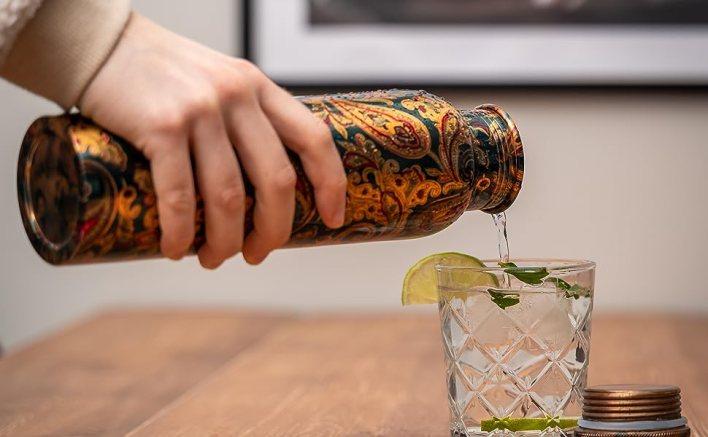 Pouring-Copper-Bottle