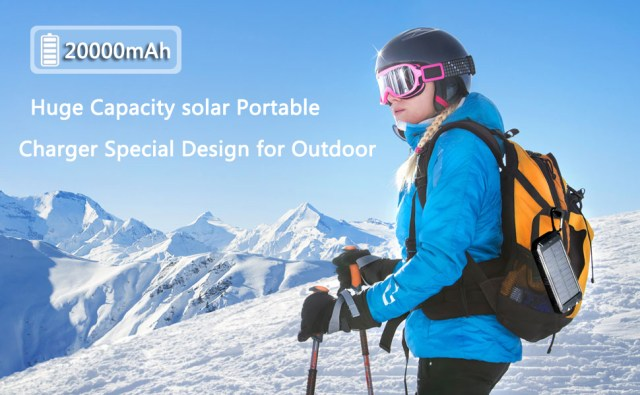 Portable solar charger  backup battery