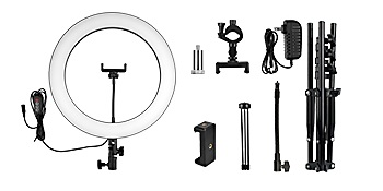 """RING LIGHT WITHE DUAL STAND 14"""""""