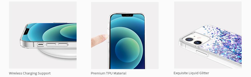 iPhone 12/ 12 Pro Liquid Glitter Case
