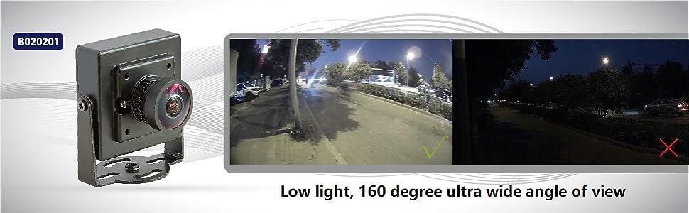 düşük aydınlatma ultra geniş görüş açısı