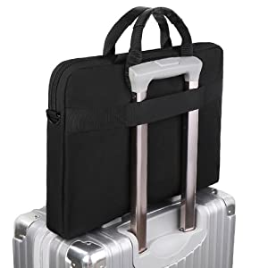 laptop sleese with luggage strap