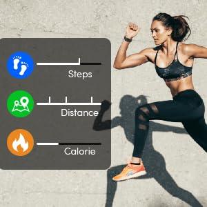 step counter watch calorie tracker watch