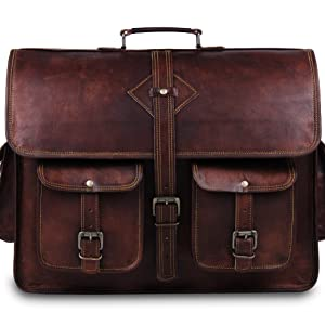 Leather laptop bag for men | Leather brifcases for office and collage use