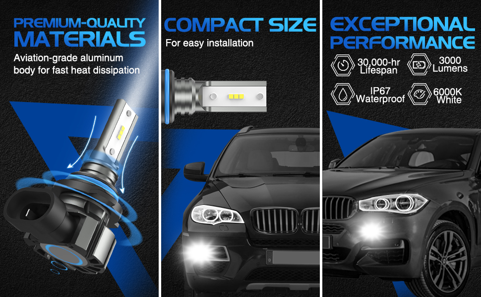 9145 led fog light bulbs