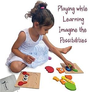 prescolare concentrazione bambini regalo cubo confezioni sensoriali borsa bambino custodia