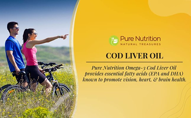 Pure Nutrition COD Liver Oil with Omega 3 Fatty Acid