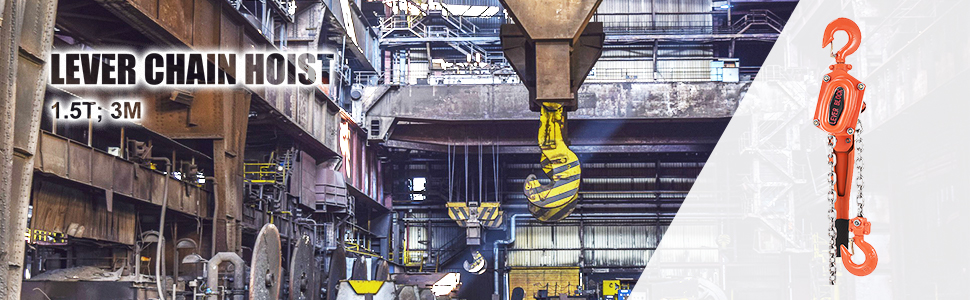 1-1/2 Ton Lift Lever Block Chain Hoist