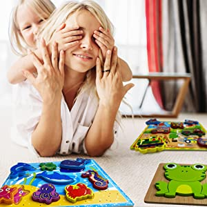 wooden puzzles for toddlers 1-3