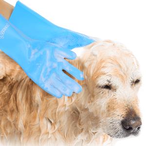 dog brushing gloves