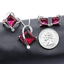 July birthstone necklace set