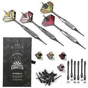 complete darts set and accessories shafts flights sharpener dart tool