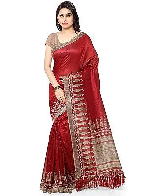 Rajnandini Women's Ethnic Wear Tussar Art Silk Printed Saree