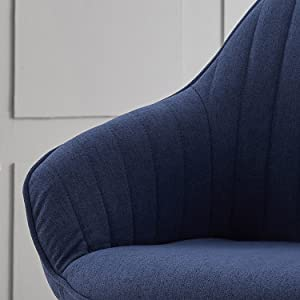 swivel blue chair with arms